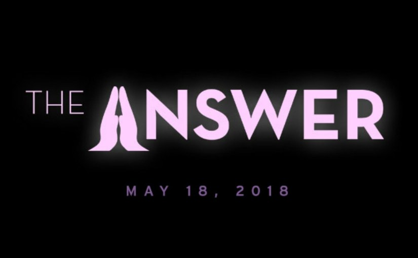 JESUS IS 'THEANSWER'